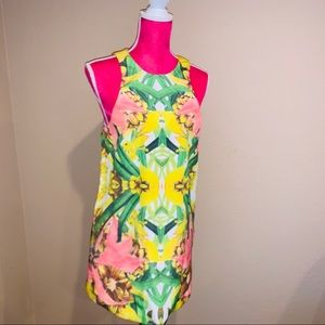 Finders keeper Yellow Dress in Floral Print